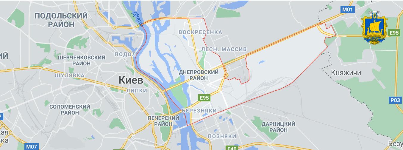 Ритуальные услуги Днепровский на карте города